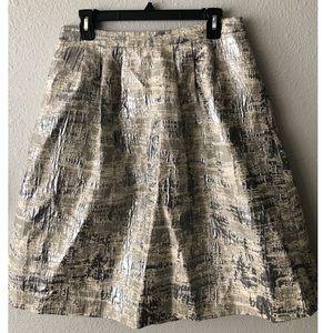 Calvin Klein A line silver skirt